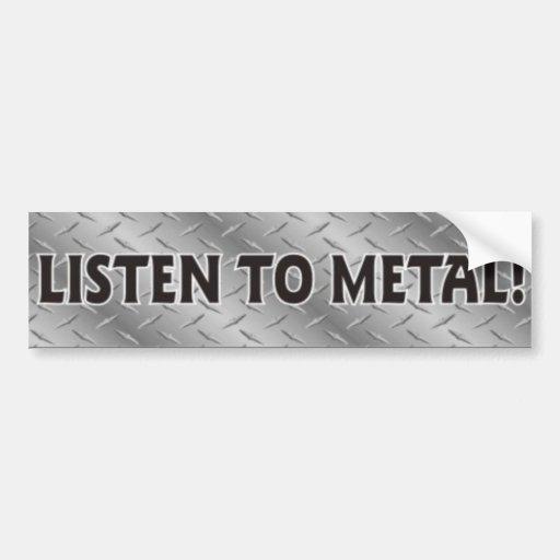 Escute o metal, etiqueta da música do metal pesado adesivos
