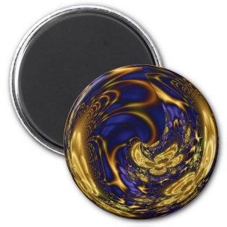 Esfera filigrana do ouro ímã redondo 5.08cm