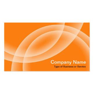 Esferas de sobreposição - laranja cartões de visitas