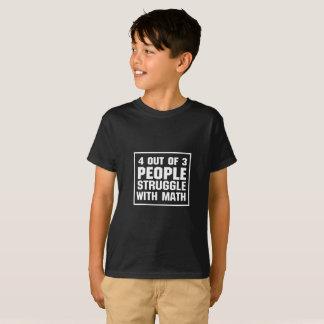 Esforço com camiseta engraçada da matemática