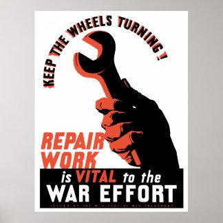 Esforço da guerra da segunda guerra mundial poster