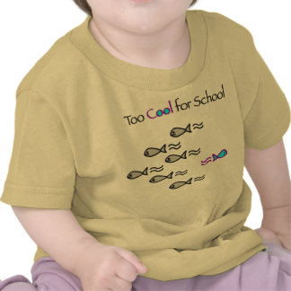 Esfrie demasiado para a escola - camisa da criança camiseta