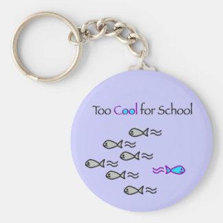 Esfrie demasiado para a escola - chaveiro dos peix