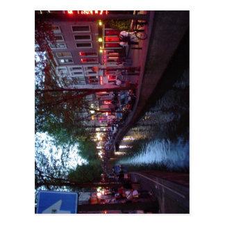 Espa sumário? ol: Calle del bairro Rojo de Amsterd Cartão Postal