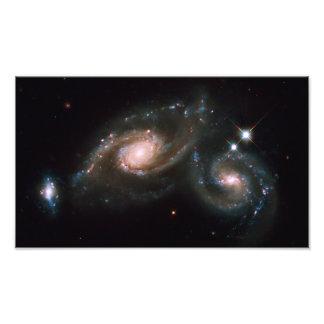 Espaço da NASA das galáxias do Arp 274 Impressão De Foto
