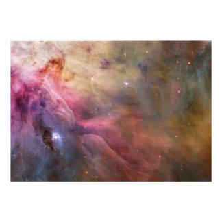 Espaço de Hubble da nebulosa de Orion Impressão Fotográfica