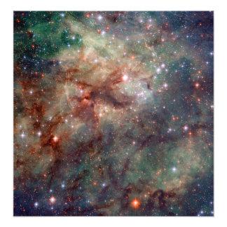 Espaço de Hubble da nebulosa do Tarantula Impressão De Foto