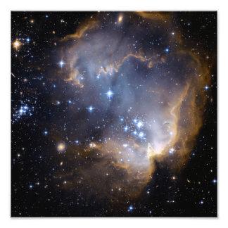 Espaço do conjunto de estrela N90 Hubble Impressão De Foto