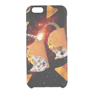 Espaço dos gatos do Taco Capa Para iPhone 6/6S Clear