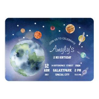Espaço e planetas do convite