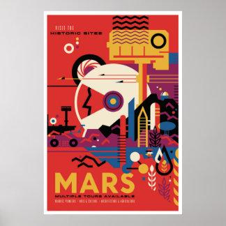 Espaço futuro de Marte da visita do poster de