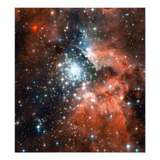 Espaço gigante do conjunto de estrela da nebulosa impressão de foto