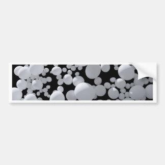 Espaço preto com tamanhos diferentes das bolas 3D  Adesivos
