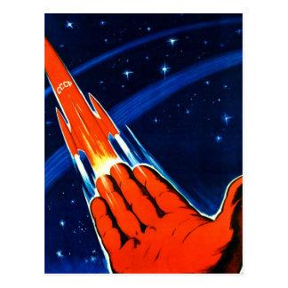 Espaço retro do soviete de Sci Fi URSS do kitsch d Cartao Postal