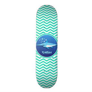 Espadarte; Aqua Chevron verde Skate