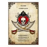 Espadas e coração - cartão de visita