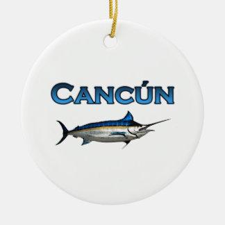 Espadim azul de Cancun Ornamento Para Arvore De Natal