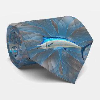 Espadim da pesca dos peixes na gravata azul do