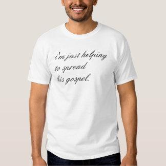 espalhando a palavra t-shirt
