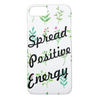 Espalhe a capa de telefone positiva das plantas de