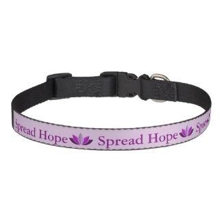 Espalhe a coleira de cão da esperança