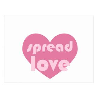 Espalhe o amor (geral) cartão postal