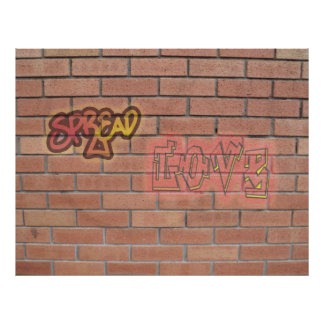 Espalhe o poster da arte do sinal dos grafites do pôster