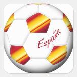 ESPAÑA Balón de Fútbol colores de bandera española Adesivo Quadrado