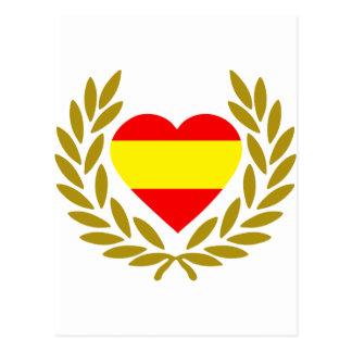 espana-laurel-heart-2 cartão postal