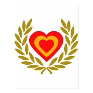 espana-laurel-heart cartoes postais