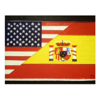 España y Estados Unidos Cartão Postal