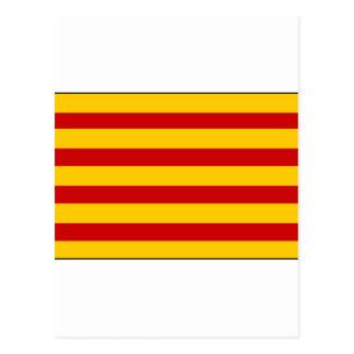 Espanha da bandeira de Catalonia Cartão Postal