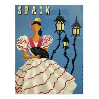 Espanha do poster do cartão das viagens vintage cartão postal