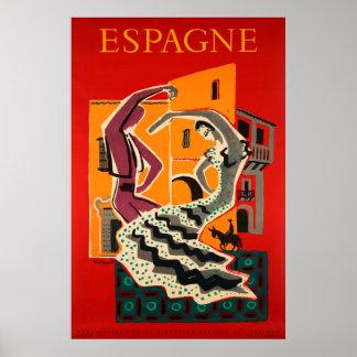 Espanha, espanha, poster de viagens