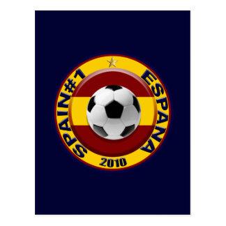 Espanha número 1 2010 presentes do futebol cartão postal