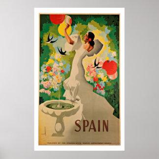 Espanha - posters das viagens vintage pôster