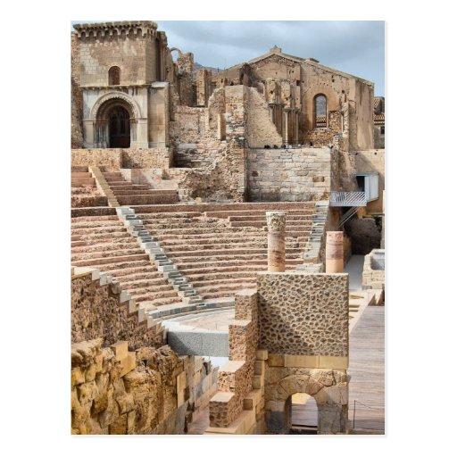 Espanha romana de Cartagena do teatro Cartão Postal