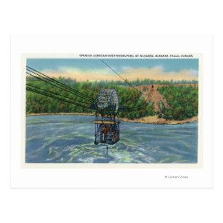 Espanhol Aerocar sobre o redemoinho de Niagara Cartão Postal