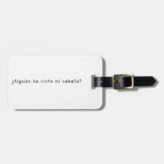 Espanhol-Cavalo Etiqueta De Bagagem
