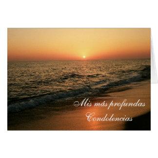 Espanhol: Condolencias Cartão Comemorativo