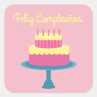 """Espanhol de """"cumpleaños Feliz,"""" etiqueta do feliz"""