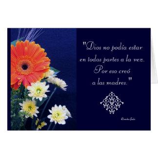 Espanhol: Dia especial - mamã/madres Cartão Comemorativo