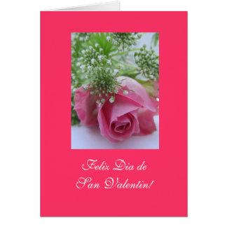 Espanhol: Diâmetro San Valentin do dia de Cartão Comemorativo