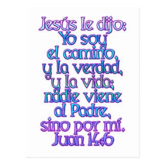 Espanhol do 14:6 de John Cartao Postal