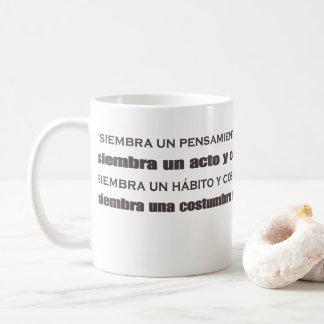 Espanhol do professor caneca de café