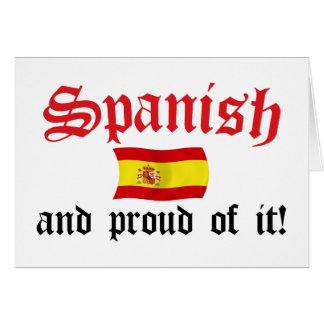 Espanhol e orgulhoso dele cartão