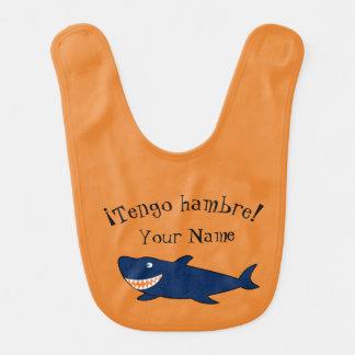 """Espanhol """"eu estou com fome!"""" Babador do tubarão"""