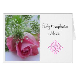 Espanhol: Feliz Cumpleanos Mamá! hertz tp Cartão Comemorativo