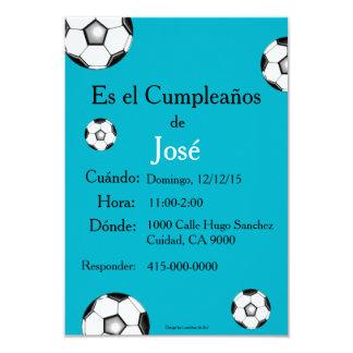 Espanhol: Festa de cumpleaños - Invitación Convite 8.89 X 12.7cm
