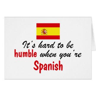 Espanhol humilde cartões